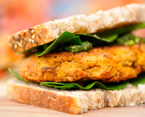Sweet-Potato-and-Spinach-Burgers